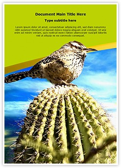 Cactus Editable Word Template