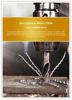Drill Machine Editable Word Template
