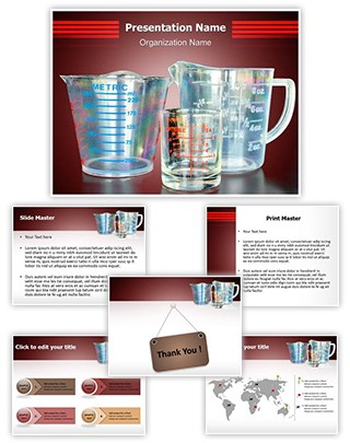 Measuring Cups Editable PowerPoint Template