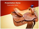 Horse Saddle Editable PowerPoint Template
