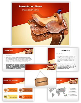 Horse Saddle Editable PowerPoint Template