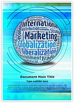 International Marketing Concept Editable Word Template