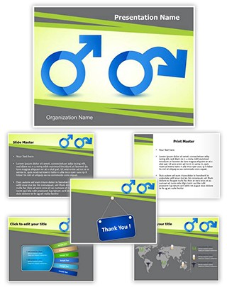Male Andropause Editable PowerPoint Template