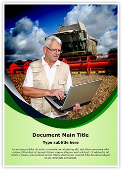 Agriculture Technology Editable Word Template
