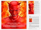 Satan Devil Editable Word Template