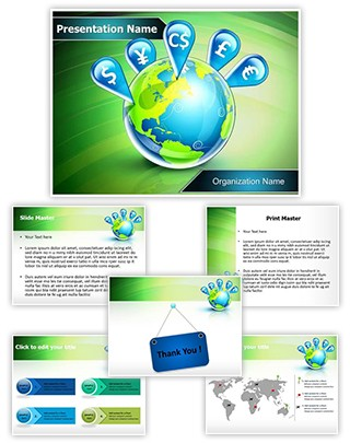 Global Currencies Editable PowerPoint Template