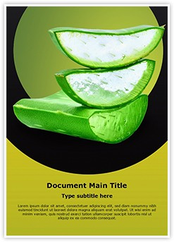 Aloe vera Editable Word Template