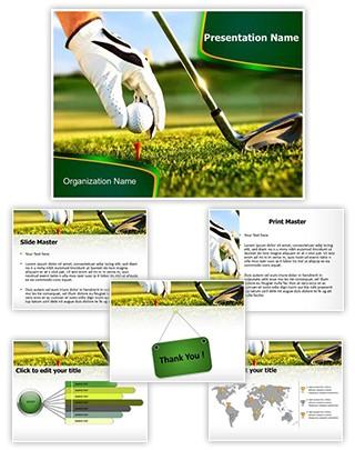 Golf Ball Tee Editable PowerPoint Template