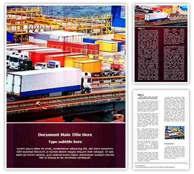 Cargo Trucking Editable Word Document Template
