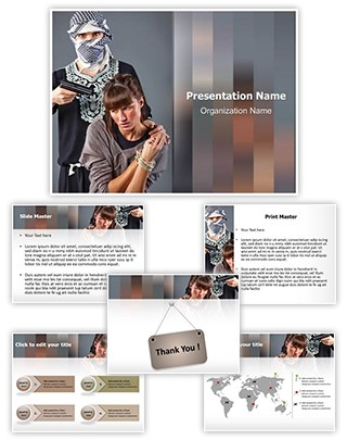 Hostage Editable PowerPoint Template