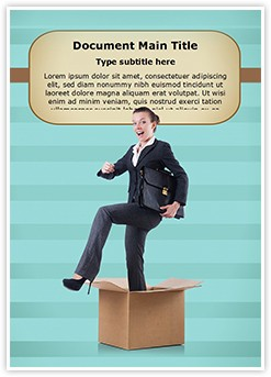 Step Out of Box Editable Word Template