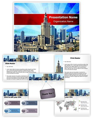 Industry Agglomeration Editable PowerPoint Template