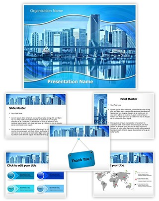 Industry Building Agglomeration Editable PowerPoint Template
