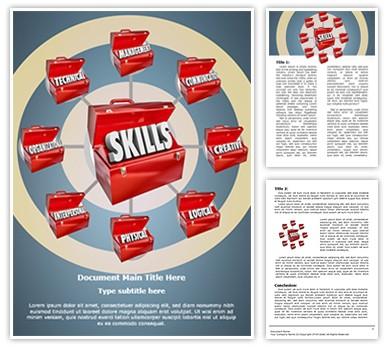 Skills Editable Word Document Template
