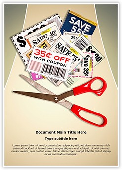 Savings Grocery Coupons Editable Word Template
