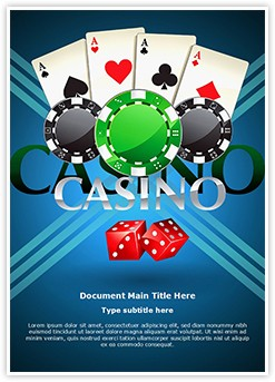 Cards Coins Casino Editable Word Template