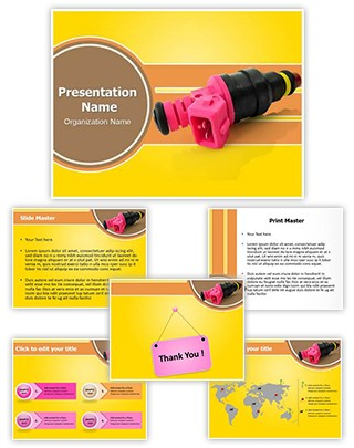 Fuel Injection Device Editable PowerPoint Template