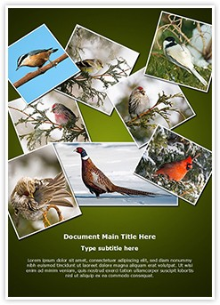 Ornithology Collage Editable Word Template