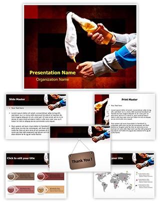 Molotov Cocktail Editable PowerPoint Template