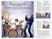 Musical Band Editable Word Template