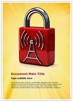 Wifi Security Editable Word Template