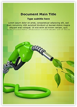 Natural Biofuel Editable Word Template