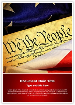 American Constitution Editable Word Template