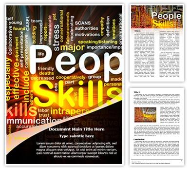 Interpersonal Skills Editable Word Document Template