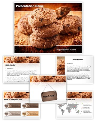 Chocolate Cookies Editable PowerPoint Template