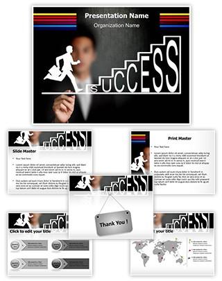 Climbing Success Editable PowerPoint Template