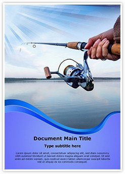 Lake Fishing Editable Word Template