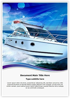 Powerboat Editable Word Template