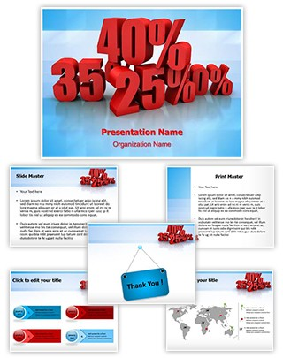 Discount Percent Editable PowerPoint Template