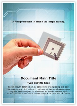 Radio Frequency Identification Tag Editable Word Template