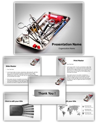 Surgery Instrument Editable PowerPoint Template