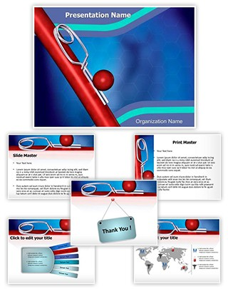 Aneurysm Clip Editable PowerPoint Template