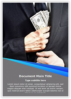 Bribe Money Editable Word Template