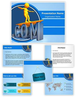 Dotcom Evolution Editable PowerPoint Template