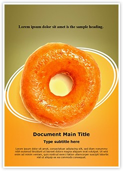 Yummy Donut Editable Word Template