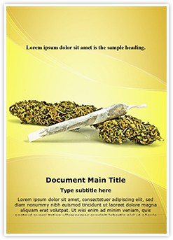 Cannabis Editable Word Template
