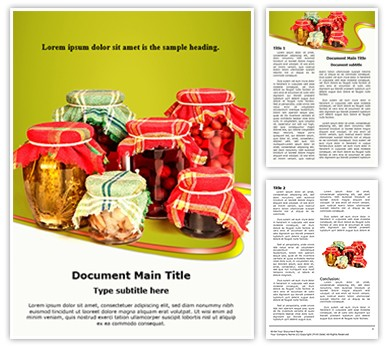 Jar Preserving Editable Word Document Template