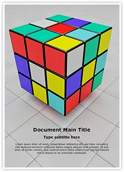 Rubiks Cube Editable Word Template