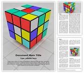 Rubiks Cube Editable Word Template