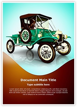 Antique Car Editable Word Template