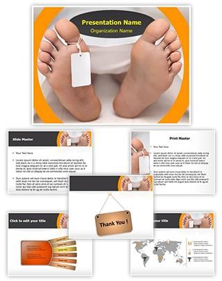Pathology Dead Body Editable PowerPoint Template
