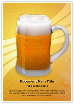 Appetizing Beer Glass Editable Word Template