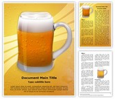 Appetizing Beer Glass Template