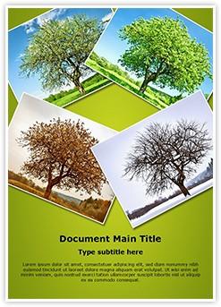 Seasonal Tree Editable Word Template