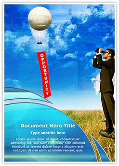 Business Opportunity Editable Word Template