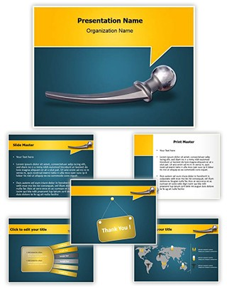 Hip Replacement Metal Editable PowerPoint Template